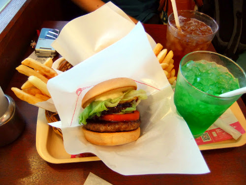Hamburger in Mos Burger fast food restaurant, hamburgers in Japan The Real Japan