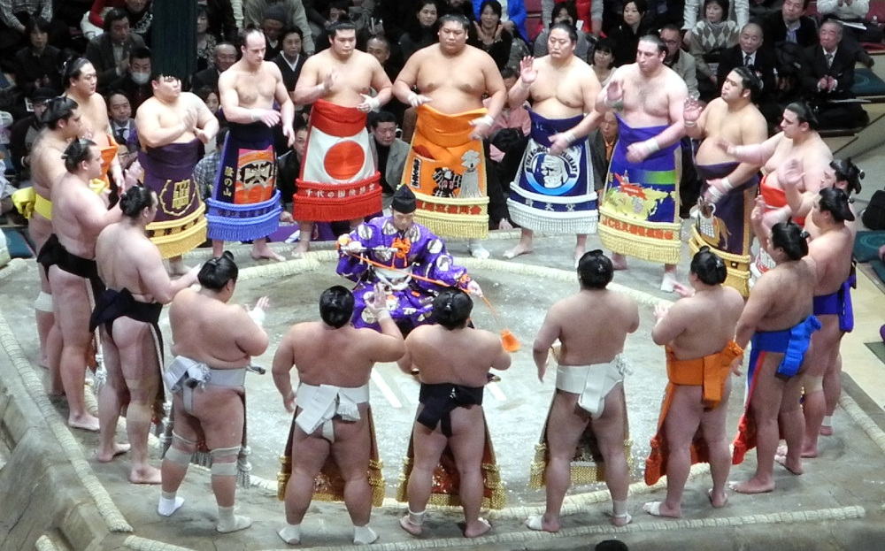 Sumo wrestlers tournament The Real Japan Rob Dyer
