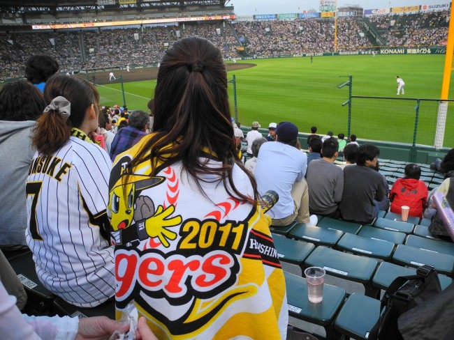 Hanshin Tigers Fans at Koshien Stadium