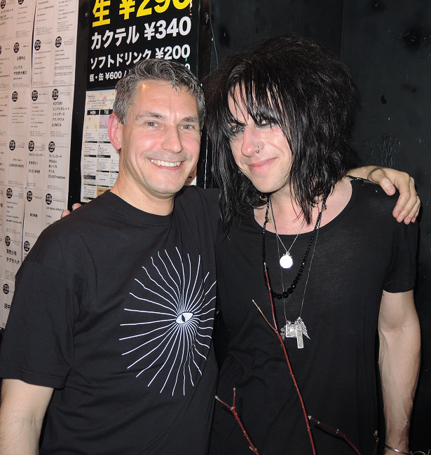Me (left) with Roi from Mechanical Cabaret, Dj in Tokyo