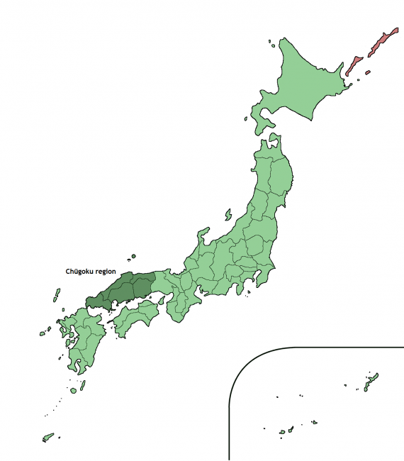 Chugoku region map