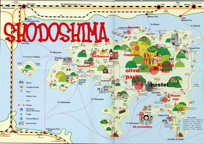 Map of Shodoshima