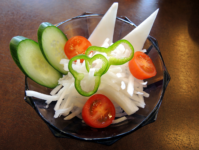 Daikon Salad in Restaurant
