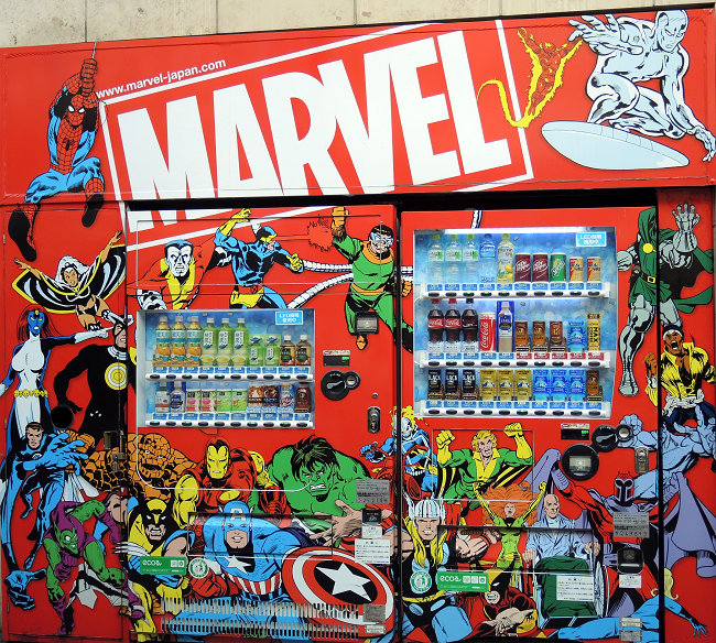 Marvel Vending Machine, Tokyo