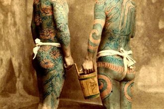 Vintage Tattooed Japanese Men