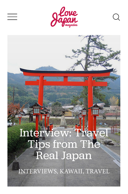 Interview with Love Japan Magazine