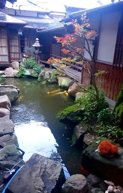 Courtyard garden, Aburaya Ryokan, Takahashi