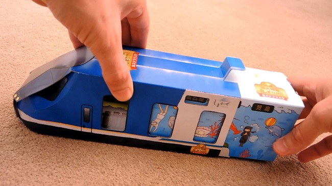 Unboxing Cake in Commemorative Shimakaze Train Packaging