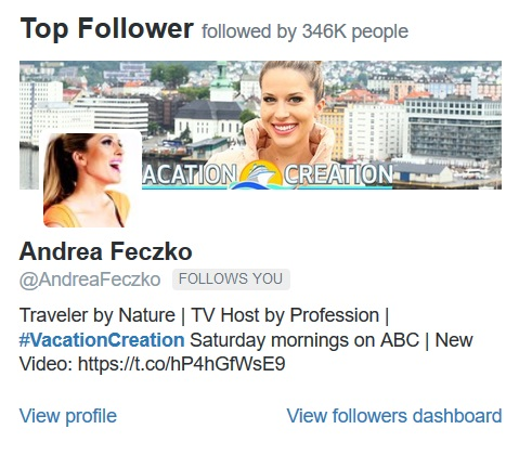 Top 5 Recent Tweets The Real Japan Rob Dyer Andrea Feczko ABC Vacation Creation