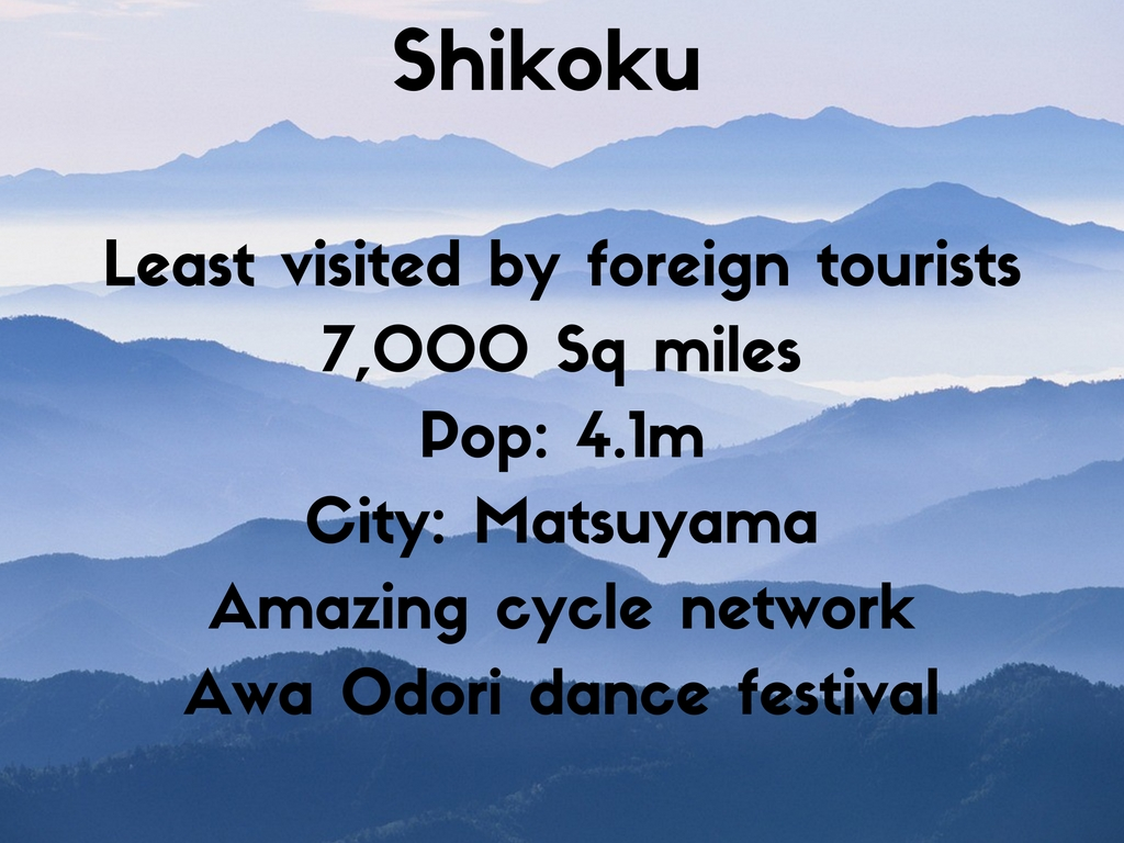 Shikoku facts and figures The Real Japan Rob Dyer