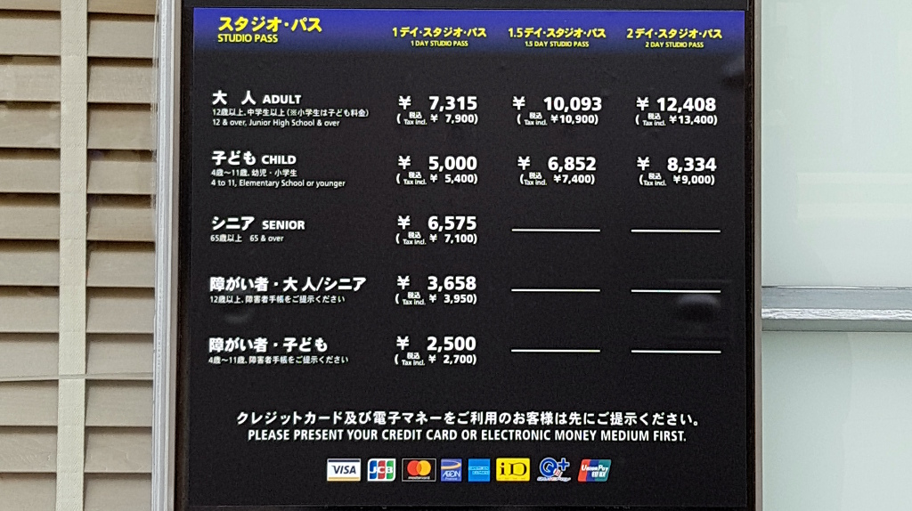 Studio Pass ticket prices Universal Studios japan The Real Japan Rob Dyer