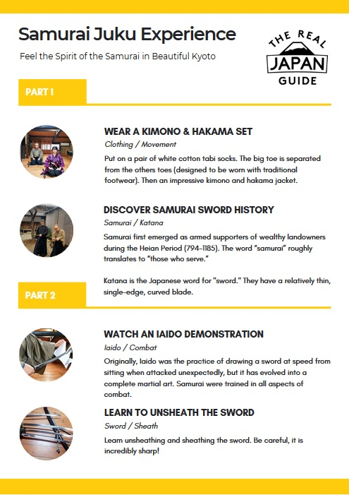 samurai sword experience Kyoto Samurai Juku Guide The Real Japan Rob Dyer