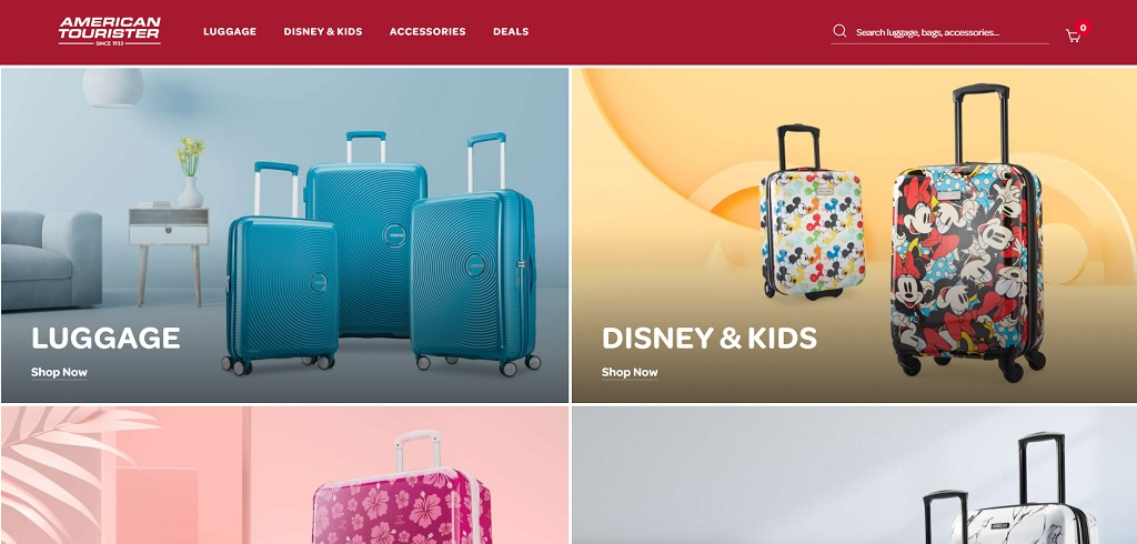 American Tourister site The Real Japan travel resources