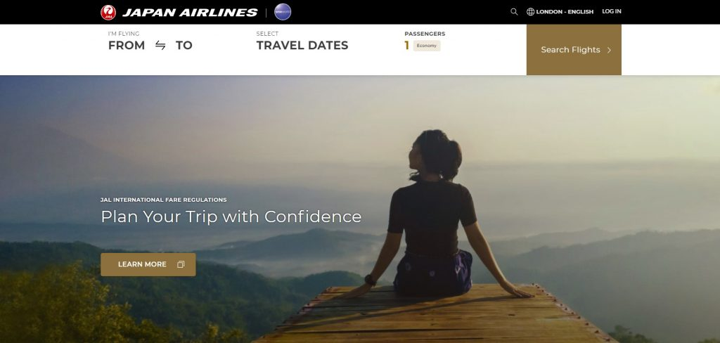 Japan Airlines site The Real Japan travel resources
