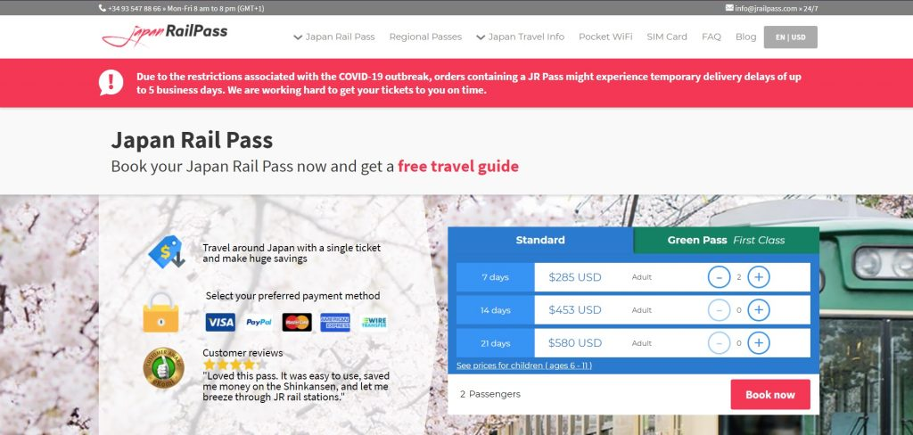 JRailPass site The Real Japan travel resources