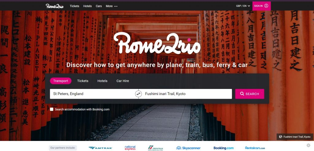 Rome2Rio site The Real Japan travel resources