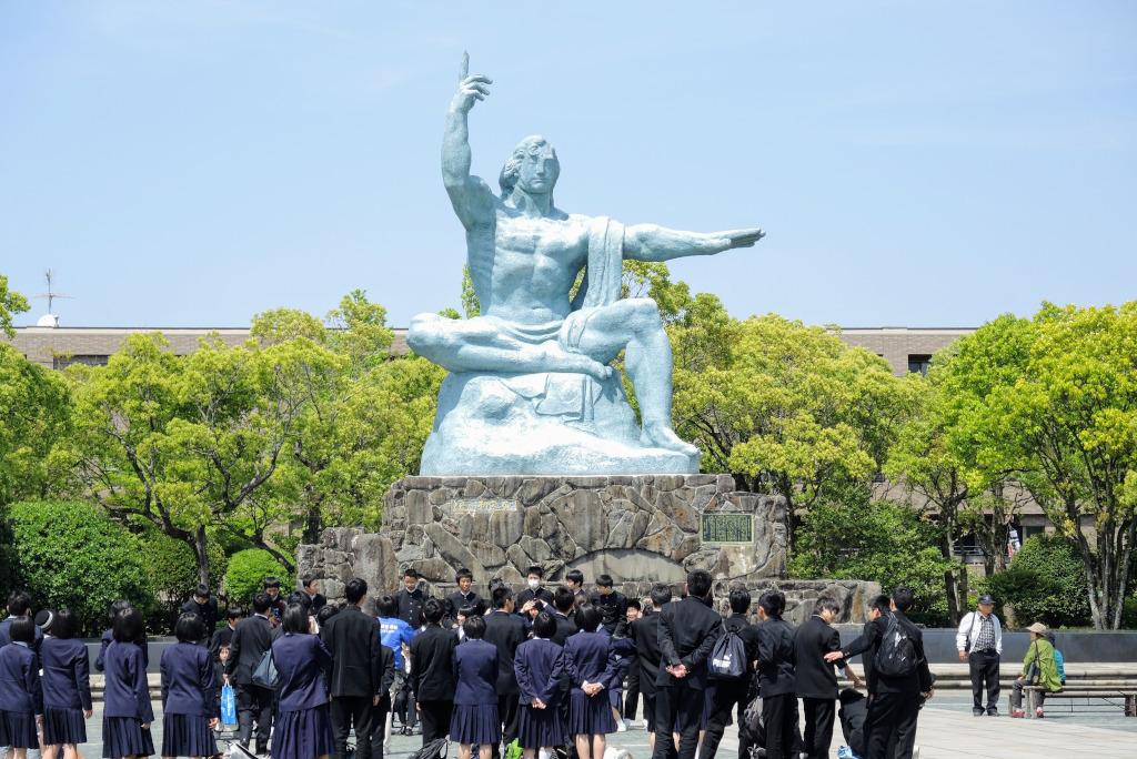 Peace Park statue Nagasaki  Kyushu The Real Japan Rob Dyer