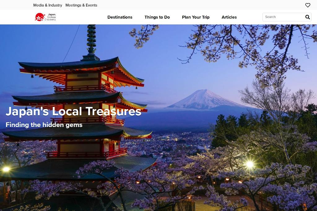 JNTO website